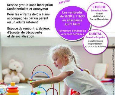 Un nouveau lieu d'accueil Enfants Parents : «Jeux de Mots»