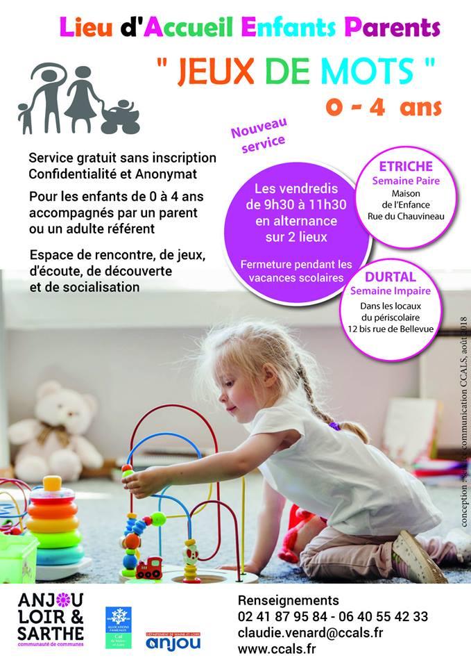 Un Nouveau Lieu D Accueil Enfants Parents 171 Jeux De Mots