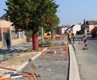 Chantier de l'avenue d'Angers à Durtal : le point sur la circulation