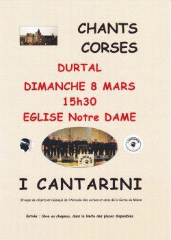 Affiche A4 I Cantarini Durtal