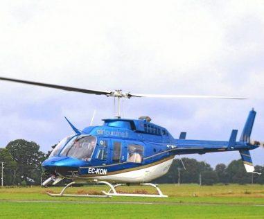 Visite de lignes électriques par hélicoptère