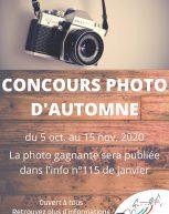 Concours photo d'automne
